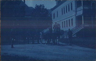 Togus ME Veterans Soldiers Home c1905 Cyanotype Real Photo Postcard #1