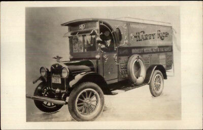 Harry Rich Circus Aerial Act Truck Tennessee License Plate Real Photo Postcard