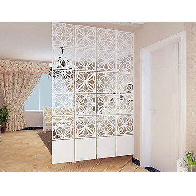New Room Dividers Hollow Decorative Screen Panels Hanging Indoor Partition 4PCS