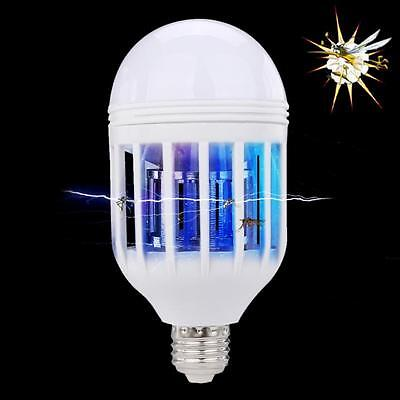 LED Anti-Mosquito Bulb 15W 1000LM 6500K Electronic Insect Fly Lure Kill Bulb US