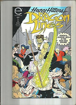 Dragon Lines #1  Embossed Cover  Epic Comics *  Marvel  1993  Nice!!!