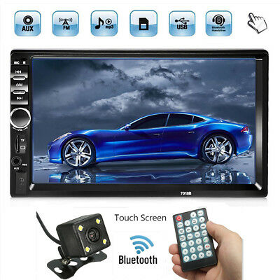 Free Camera Double 2 Din 7'' Touch Car Stereo Radio MP5 MP3 Player Head Unit AU
