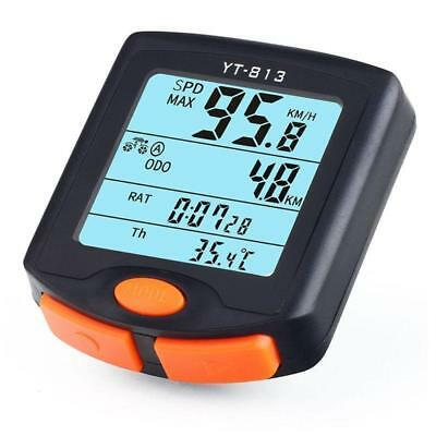 Bicycle Fashion Cycling Computer Odometer Speedometer LCD Backlight #M