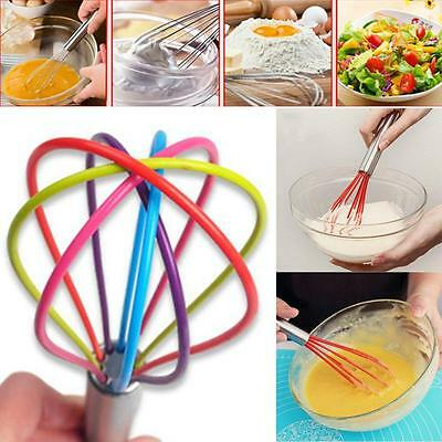Kitchen Silicone Whisk With Heat Resistant Non-Stick Silicone Whisk Cook Hot