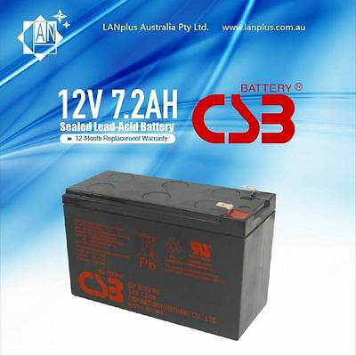 CSB GP1272 F2 12V 7.2Ah Rechargeable Battery for NBN Back Up Power Supply Alarm
