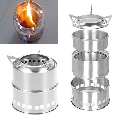 Portable Wood Gas Burning Backpacking Camping Picnic Outdoor Stove Alcohol Stove