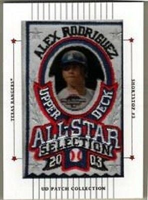 2003 UD Patch Collection #121 Alex Rodriguez AS