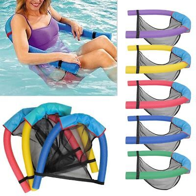 Swimming Pool Noodle Mesh Seat Chair Sling Floating Aid Woggle Water Float Toy