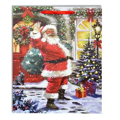 1 x Small Luxurious Christmas Gift Bag Strong Paper Bags