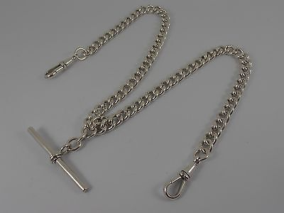 Vintage Sterling Silver Watch Chain Double Albert Chain Matching Hallmarks 1926