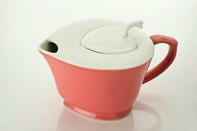 Yedi Inside Out Heart Pink+White Full Glaze Porcelain Coffee Tea Pot Teapot-2B