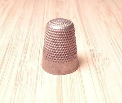 Vintage Sterling Silver Textured Thimble ~ 6 grams ~ 8-H2072