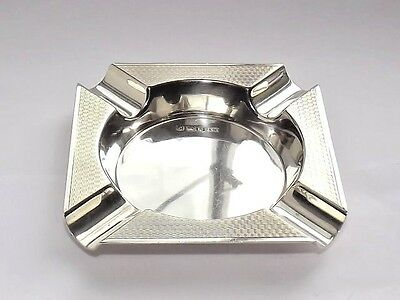 QUALITY VINTAGE HEAVY 81g SOLID SILVER STERLING ASH TRAY DISH SHEFFIELD 1960