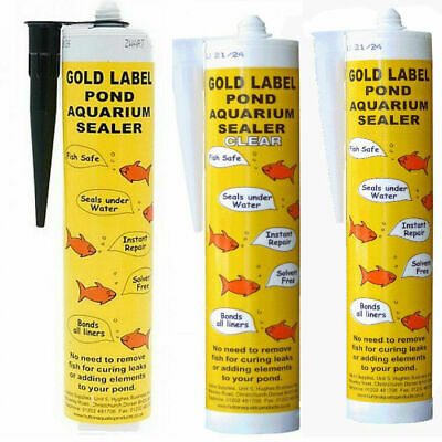Gold Label Underwater Pond Sealant Sealer Bonder Black / Clear / White 290ml