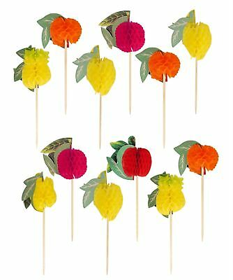 12-144 Fruit Paper Cocktail Food Stick Pick Decoration Summer Hawaiian Bbq Party