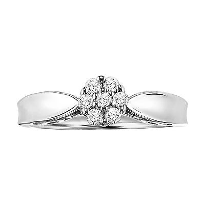 Cambridge Sterling Silver 1/5ct TDW Diamond Promise Ring