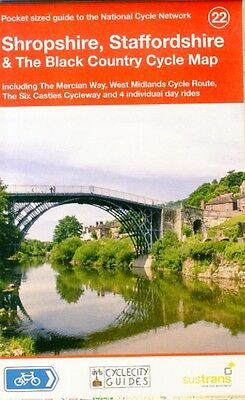 Shropshire, Staffordshire & The Black Country Cycle Map (National Cycle Network.