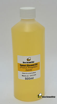 Sweet Almond Oil 100% Pure, Natural, Cold Pressed Carrier Oil, 30ml to 10kg