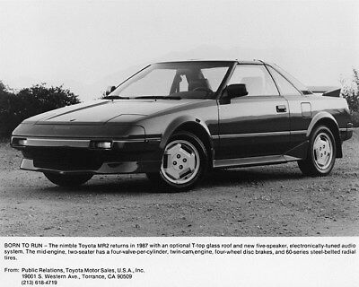 1987 Toyota MR2 Factory Photo ca8350