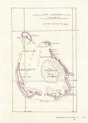 1835 Manuscript Map of the Cocos or Keeling Islands