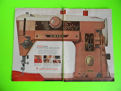 1957 Singer Presents The Greatest Sewing Machine Ever Built ~ Slant-O-Matic Ad