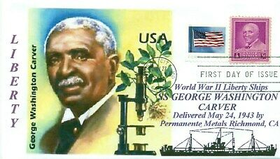 GEORGE WASHINGTON CARVER Ship named: Research Botanist Color Cachet First Day