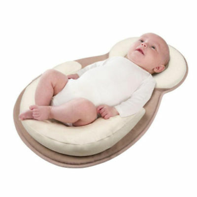 Baby infant Anti-Rollover Cotton Sleep Pad Safe Mat Support Baby Pillow Head US