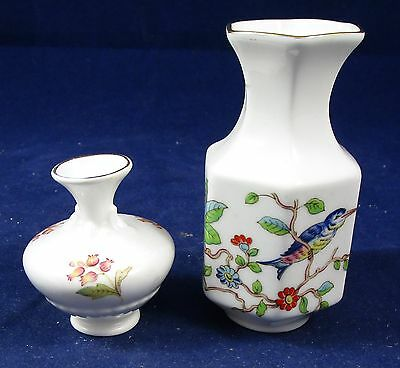 Lot of 2 Vintage Miniature Bone China Vases Made in England - Age Unknown