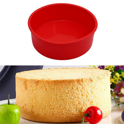 "6"" Round Silicone Cake Mold Pan Muffin Pizza Pastry Bread Baking Tray Mould"
