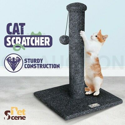 43CM Cat Scratching Post Pole Scracther Climbing Frame with Toy Black