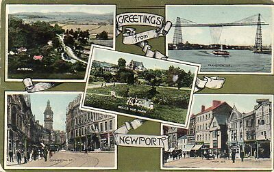 """""""""""postcard Multiview Newport,monmouthshire,wales"""""""""""