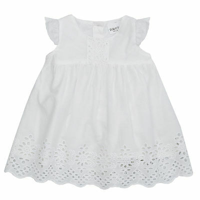 Baby Girls White Cotton Summer Dress Very Pretty Broidere Anglais 3m To 18m