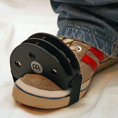 Meinl Foot Tambourine FJS2S-BK.Easily mounted on your foot, goes with any beat !