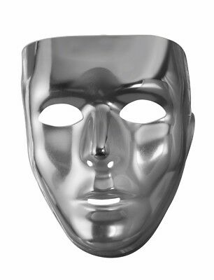 Mens Male Full Face Mask Blank Plastic Mardi Gras Costume Accessory Facemask