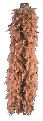 Owl Boa Exotic Feather Light Brown Costume Adult Halloween Costume Accessory
