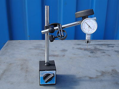 """Magnetic Base & 0-0.8mm/0-0.03"""" (2-In-1) Test Dial Indicator 60kgs Force"""