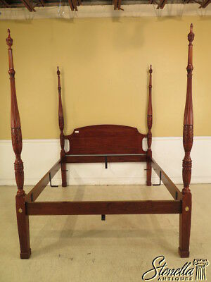 25343EC: HENKEL HARRIS Queen Size Cherry Rice Carved Poster Bed