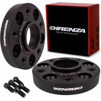 DIRENZA 5 x 120 25mm HUBCENTRIC FORGED ALLOY WHEEL SPACERS PAIR FOR BMW i3 13+