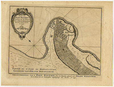 Antique Print-TOPOGRAPHY-MADAGASKAR-FORT DAUPHIN-Anonymous-1750