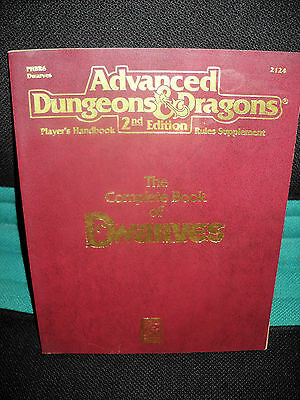 AD&D Advanced Dungeons & Dragons Complete Book of Dwarves / 2nd Edition