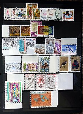 ANDORRA 1979-82 Selection of U/M NB2762