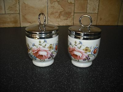 Pair of Royal Worcester Bournemouth Egg Coddlers