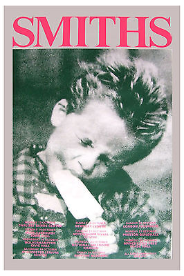 British Rock: The Smiths: * Kid Eating Ice Cream * UK Tour Poster 1986  12x18