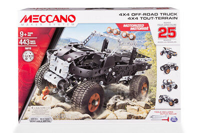 Meccano Engineering 25-in-1 4x4 Off Road Truck Model Set
