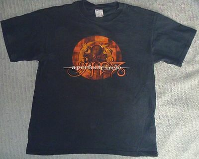 Authentic Vtg 2000 A PERFECT CIRCLE Mer De Noms Tour Shirt M/Med OCTOPUS Tool