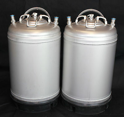 New 3 Gallon Corny Cornelius Kegs 2 pack Ball Lock for Homebrew Beer Coffee Soda
