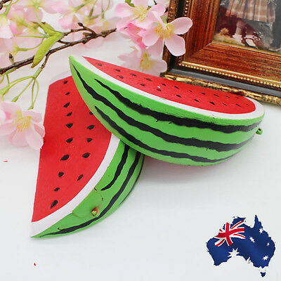 Jumbo Slow Rising Squishies Toys Scented Squeeze watermelon Stress Relief Toy AU