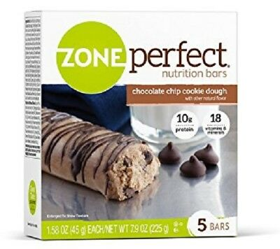 Zone Perfect Nutrition Bars Chocolate Chip Cookie Dough