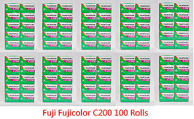 100Rolls Fujifilm Fujicolor C200 35mm Color Print Film 36 // EXP 2021-08