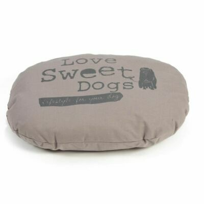 Beeztees Coussin Couchage oreiller de chiens Sweet Dogs Multi-Taille Mocha Ovale
